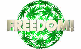 Vrijheid Liberty Marijuana Leaf Ball Sphere vector illustratie