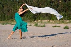 Vrijheid op het zand Stock Foto's