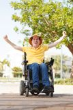 Vrijheid van de gehandicapte mens royalty-vrije stock afbeeldingen