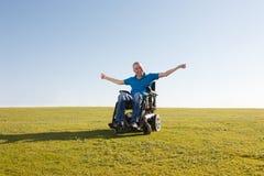 Vrijheid van de gehandicapte mens stock foto's