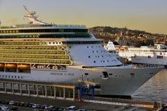 Vrijheid van het Overzees in de haven van Napels Stock Foto's