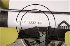Vrijheid van persconcept stock foto's