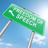 Vrijheid van toespraak. Royalty-vrije Stock Foto