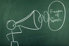 Vrijheid van toespraak stock foto