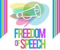 Vrijheid van Toespraak Kleurrijk Vierkant royalty-vrije illustratie