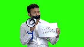 Vrijheid van toespraakconcept stock footage