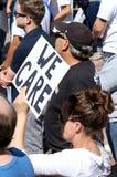 Vrijheid voor de Verzameling van de Immigrantenmassa en Maart in Denver stock foto's