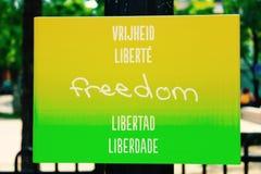 Vrijheid voor iedereen Stock Afbeeldingen