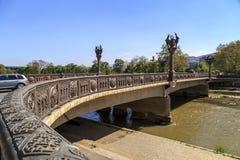 Vrijheidsbrug in Skopje Stock Foto