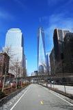 Vrijheidstoren in lager Manhattan Stock Afbeeldingen