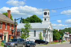 Vrijmetselaars- Tempel, Johnson, Vermont Royalty-vrije Stock Foto