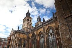 Vrijthof, Saint Servatius Basilica. Romanesque church in Maastricht, Netherlands Royalty Free Stock Photo