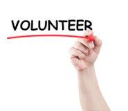 vrijwilliger stock foto's