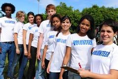 Vrijwilligers groepsregister voor gebeurtenis Royalty-vrije Stock Foto