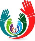 Vrijwilligers handen Royalty-vrije Stock Afbeelding