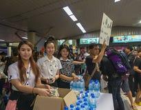 Vrijwilligers universitaire studenten Stock Afbeeldingen