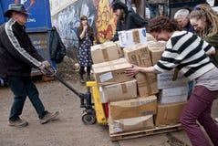Vrijwilligers van boek-Cyclus, het volutary UK Royalty-vrije Stock Foto's