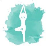 Vriksasana Yoga Pose Stock Photo