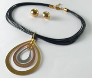Vrilles de collier d'Earings Images libres de droits