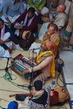 Vrindavan, στις 22 Οκτωβρίου 2016: Άσμα ομάδας Krishna λαγών σε Vrindava στοκ εικόνες