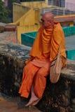 Vrindavan, στις 22 Οκτωβρίου 2016: Ρωσικός μοναχός Krishna λαγών, σε Vrinda στοκ φωτογραφία με δικαίωμα ελεύθερης χρήσης