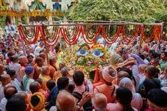 Vrindavan, am 22. Oktober 2016: Govardhan-puja gefeiert in Vrindav lizenzfreie stockbilder