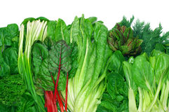 Vários legumes com folhas Fotos de Stock