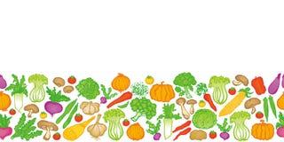 Vários vegetais doodle Imagens de Stock