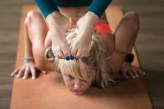 Vrischikasana yoga Pose Stock Image