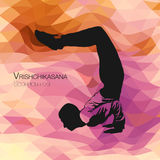 Vrishchikasana, представление скорпиона йоги стоковые фотографии rf