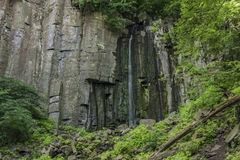 Vrkoc waterfall near river Labe Stock Images