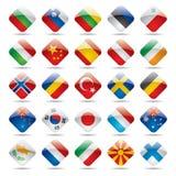 värld för 2 flaggasymboler Fotografering för Bildbyråer