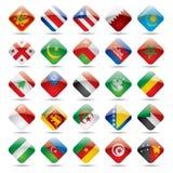 värld för 4 flaggasymboler Arkivbilder