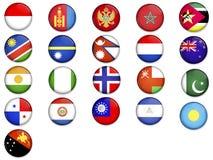 värld för 4 flaggor Arkivfoto