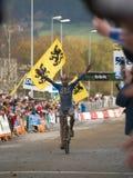värld för berg för cykelmästerskapkors Arkivfoton