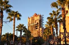 värld för disney hollywood hotelltorn Arkivbild