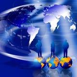 värld för marknadsföringsframgång Arkivbild