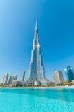 värld för uae för torn för burjdubai khalifa mest högväxt Arkivfoto