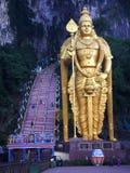 Världens mest högväxta staty av Murugan, lokaliseras utanför Batu grottor Kuala Lumpur - Malaysia Arkivfoton