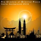 Världs berömda gränsmärken och monument Orientaliskt ställe Royaltyfria Foton