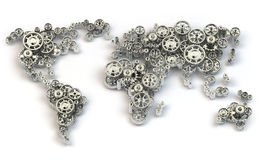 Världsekonomianslutningar och internationell affärsidé Royaltyfria Bilder
