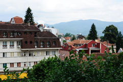 Vrnjachka banja town. One of the views of Vrnjachka banja town, Serbia. This town has a many different types of mineral waters for medicine Royalty Free Stock Images