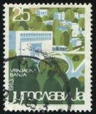Vrnjacka Banja. RUSSIA KALININGRAD, 12 NOVEMBER 2016: stamp printed by Yugoslavia, shows the Vrnjacka Banja, circa 1963 Stock Images