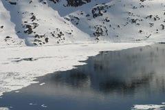 Vroeg de lente Noord-Groenland Royalty-vrije Stock Foto's