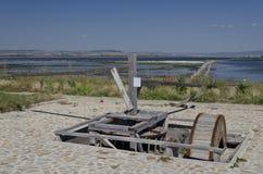 Vroeg in de Ochtend op het strand in Pomorie Stock Fotografie