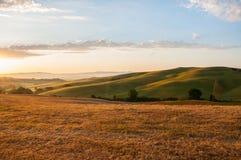 Vroeg ochtendlicht in het Toscanië Royalty-vrije Stock Fotografie