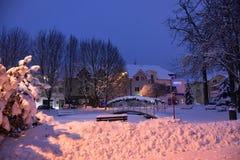 Vroege de winteratmosfeer royalty-vrije stock fotografie