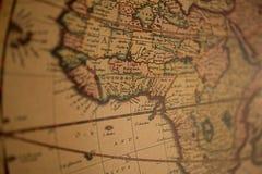 Vroege kaart van Amerika Stock Fotografie