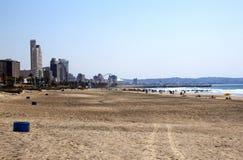 Vroege Ochtend bij Addington-Strand in Durban Zuid-Afrika Royalty-vrije Stock Afbeelding