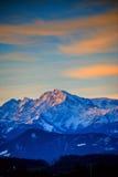 Vroege ochtend in de Alpen buiten Salzburg Stock Fotografie